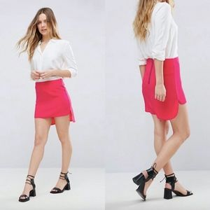NWT ASOS Neon Rose Drop Back Hem Mini Skirt {TH}